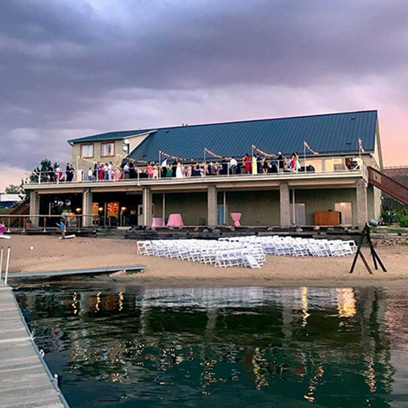 Get Married with a View of the Water at the Lakehouse in Denver