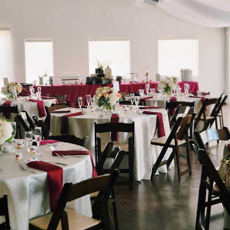 Wedding Venue Chair Table Rentals Included Denver CO