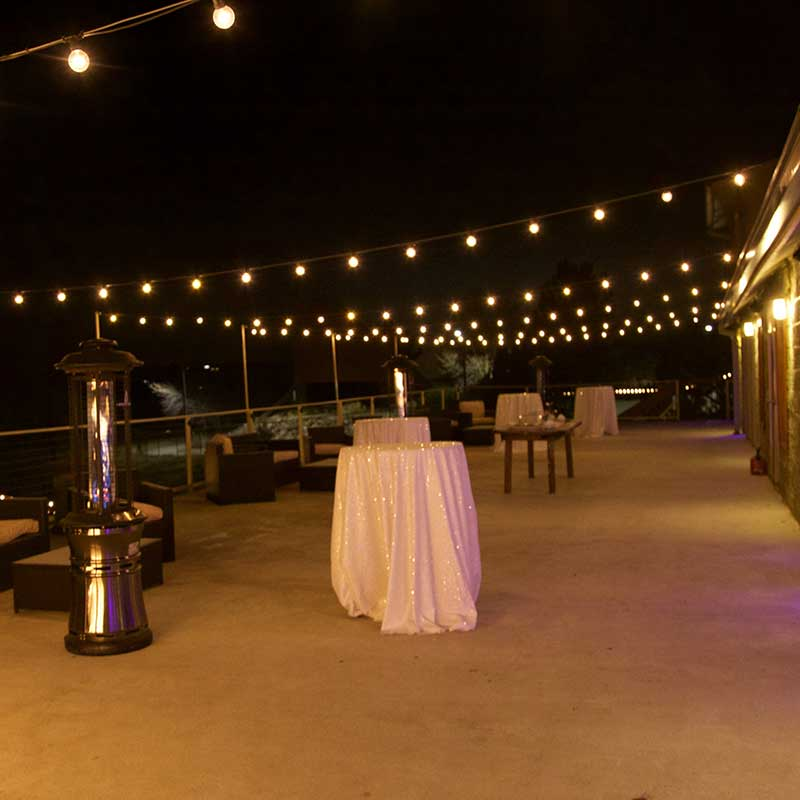 NYE Corporate Party Outdoor Deck Heated